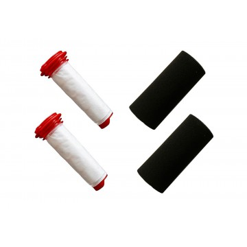 2 Pack For Bosch Athlet Cordless Vacuum Cleaner Foam and Microsan Stick Filter (compares to 00754175, 00754176). Genuine Green Label Product