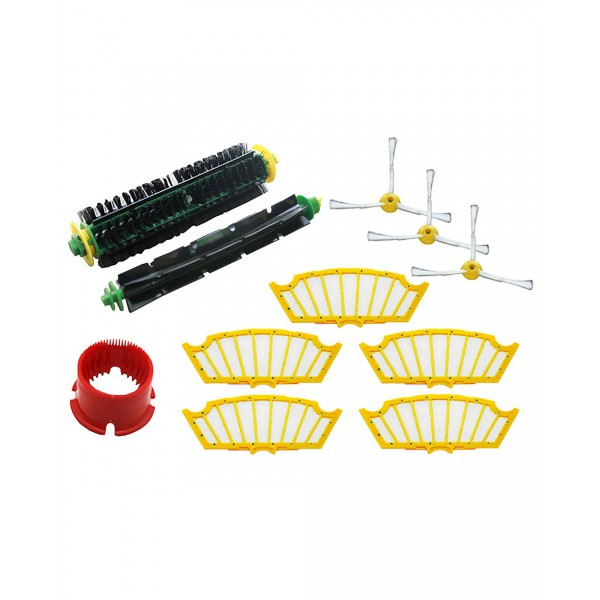 Green Label Replacement Spare Parts Accessories Kit for iRobot Roomba 500 Series Vacuuming Robots with Red and Green Cleaning Heads (compares to 82404)